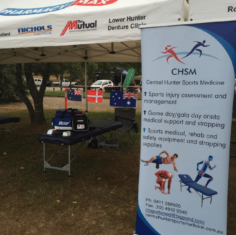 photo of Central Hunter Sports Medicine gala day treatment tent